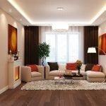 Beleuchtete Decke im Wohnzimmer