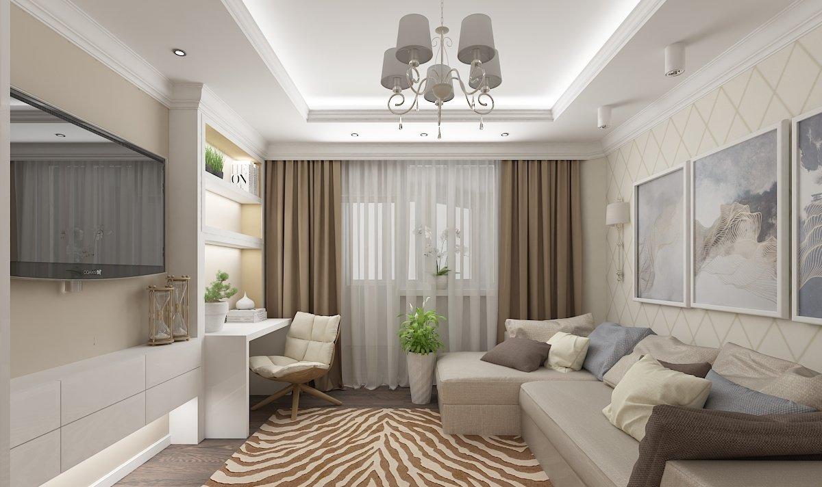 Wohnzimmer in Pastellfarben