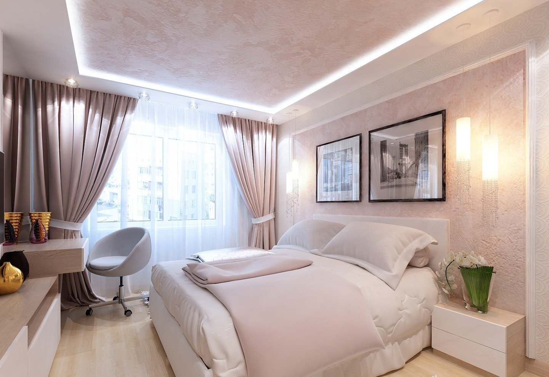 Schlafzimmer in Pastellfarben