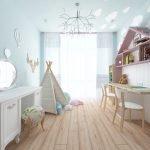 Zelt der amerikanischen Ureinwohner in einem Kinderzimmer