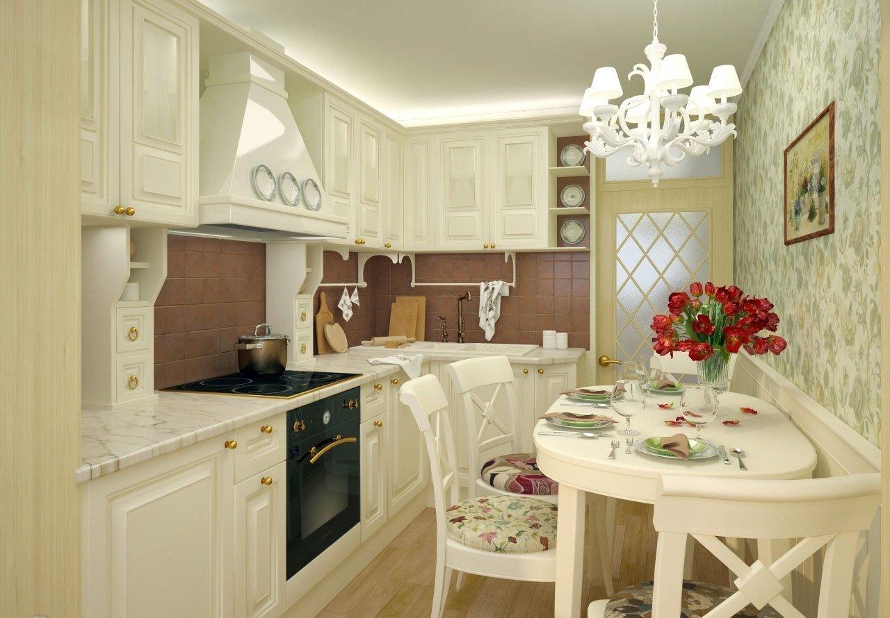 Helle Möbel in der Küche