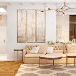 Modulares Bild im Wohnzimmer