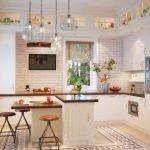 Küche mit zwei Fenstern
