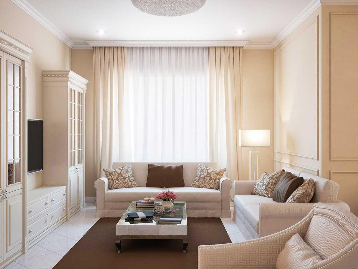 Pastellfarbene Möbel im Inneren der Wohnung