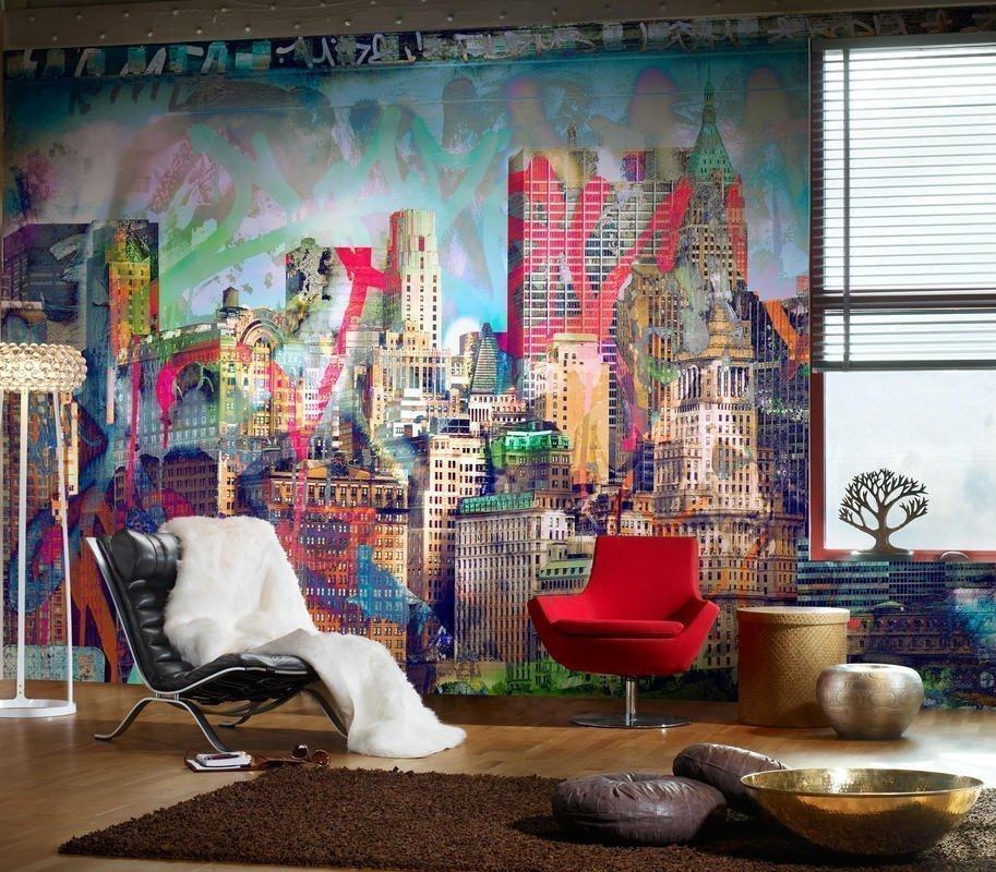 Peinture murale décorative à l'intérieur