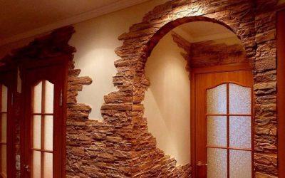 Exemples de décoration de portes avec de la pierre décorative