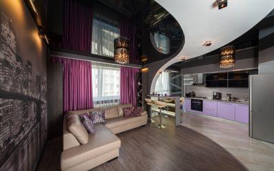 Conception de plafond pour le salon