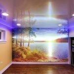 Plafond de couleur tendue
