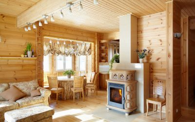 Finition d'une maison en bois à l'intérieur: exemples de l'intérieur