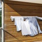 Kles tørketrommel på balkongen