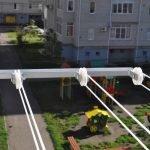 Utendørs balkong tørketrommel