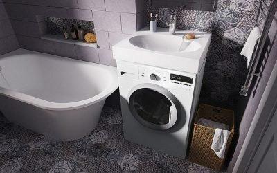 Lavabo au-dessus du lave-linge: caractéristiques d'installation