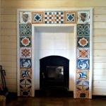 Carrelage résistant au feu pour une cheminée