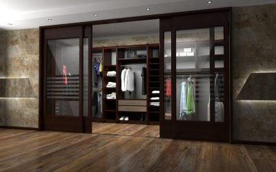 Portes d'armoire coulissantes