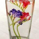 Bloemen op een glas