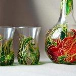 Fles en glazen
