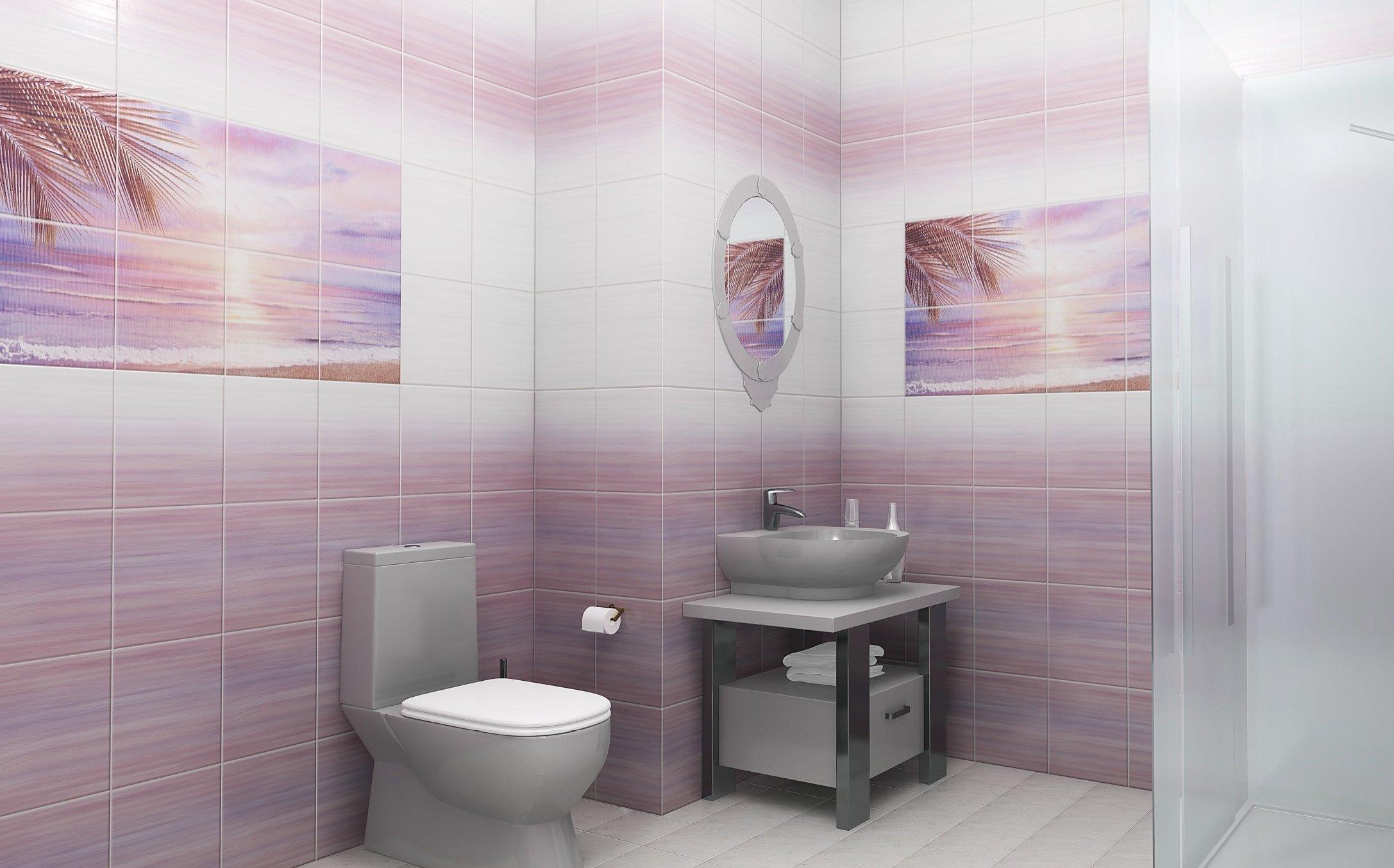 Panneaux en PVC à l'intérieur de la salle de bain