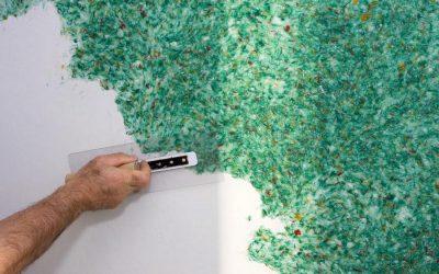 Nous fabriquons du papier peint liquide de nos propres mains: instruction