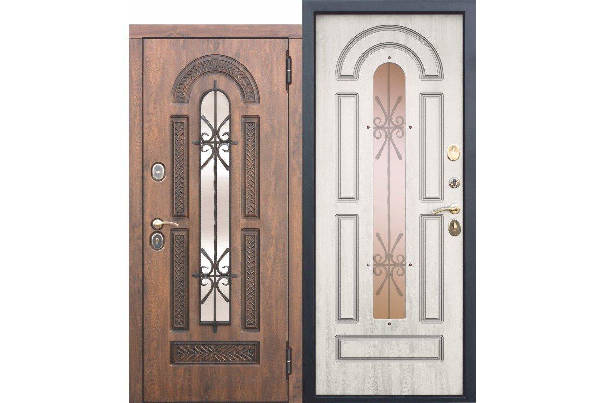 Porte d'entrée à double vitrage