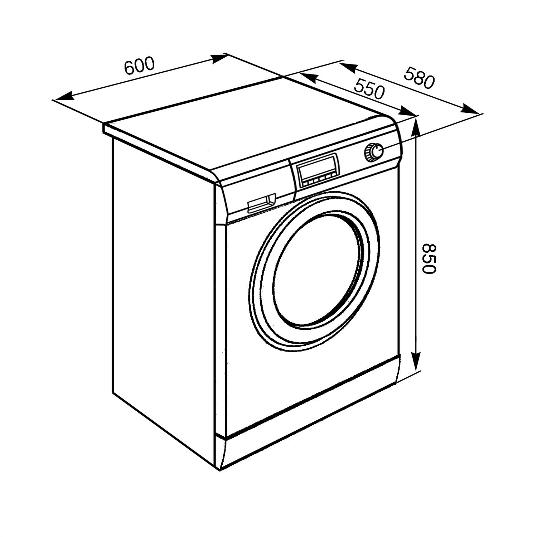 Taille de la machine à laver