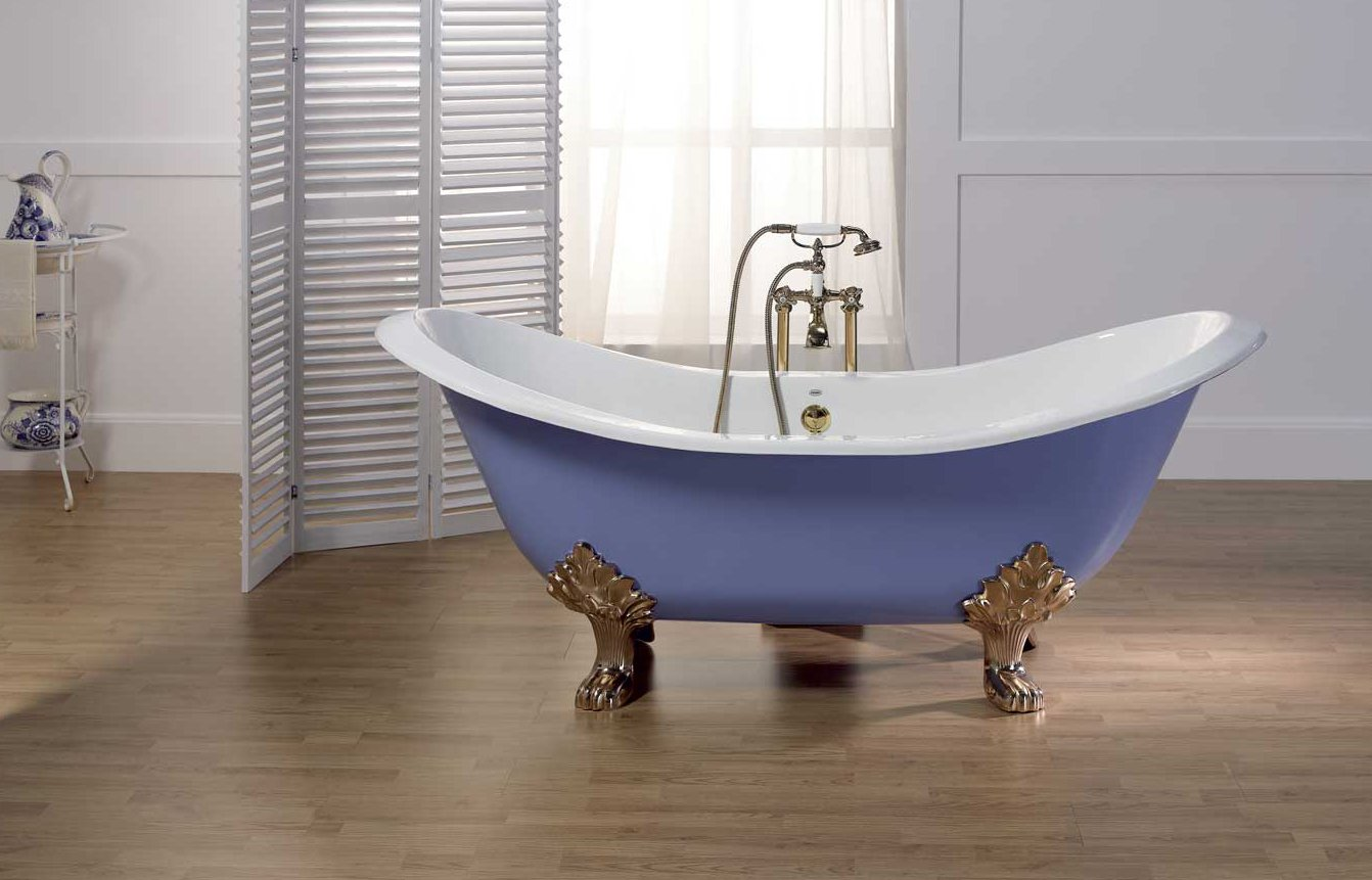 Baignoire ovale en fonte