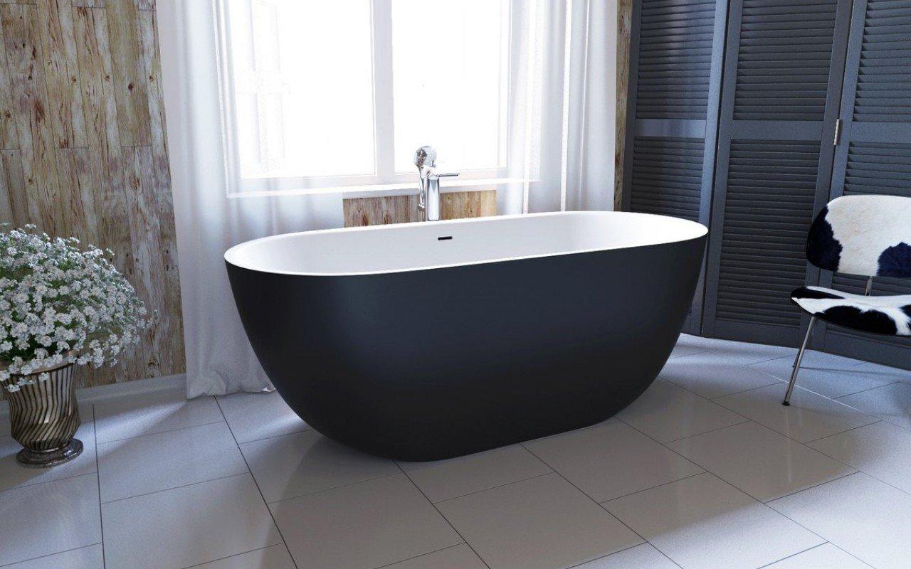 Baignoire avec vasque ovale