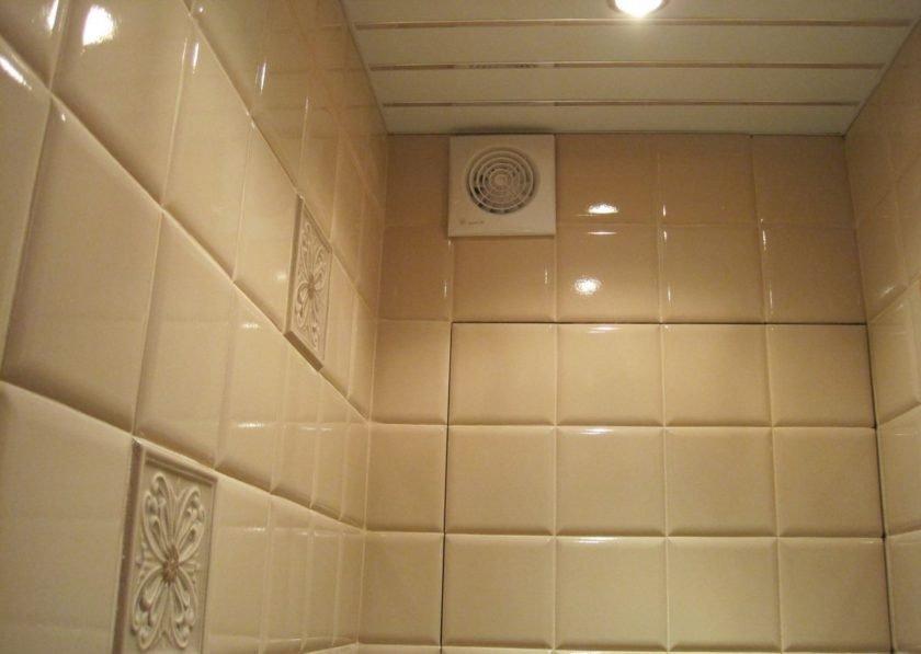 Salle de bain à ventilation artificielle