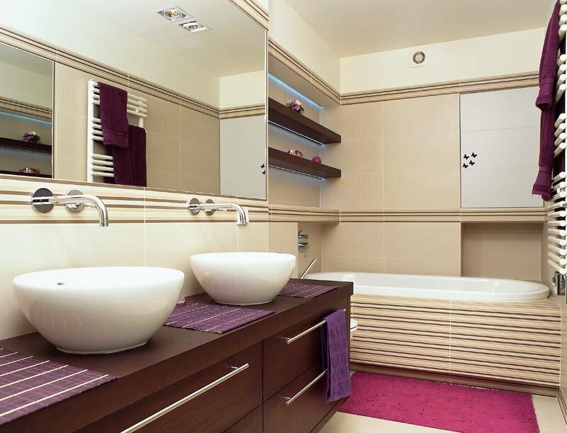 Salle de bain à ventilation rectangulaire