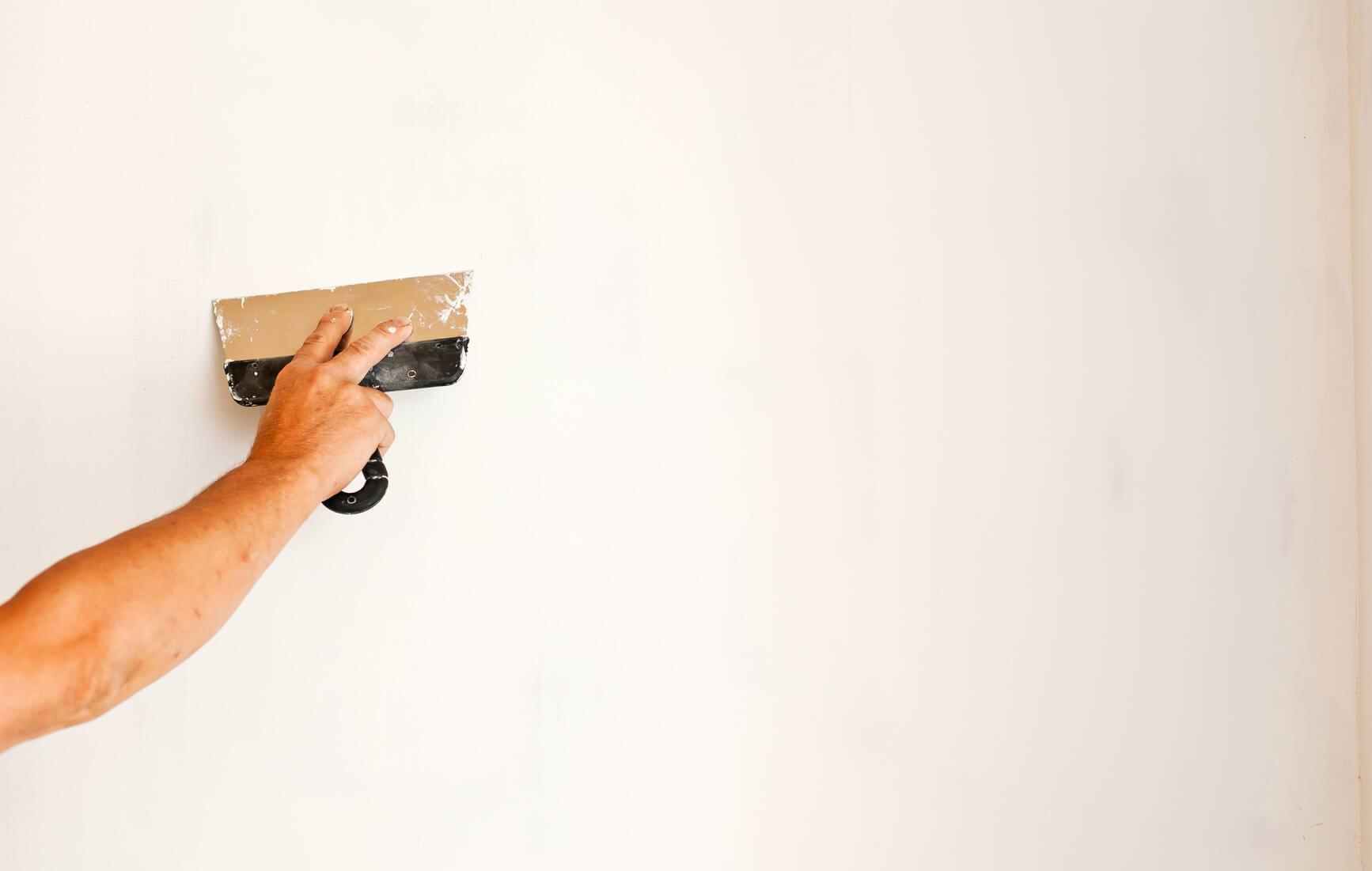 Mastic de murs à peindre