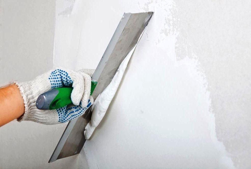 Murs de mastic pour papier peint