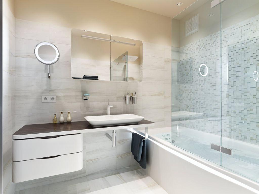 Salle de bain de forme carrée