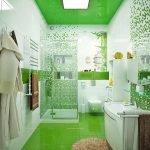 Salle de bain en vert