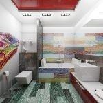 Carrelage lumineux dans la salle de bain