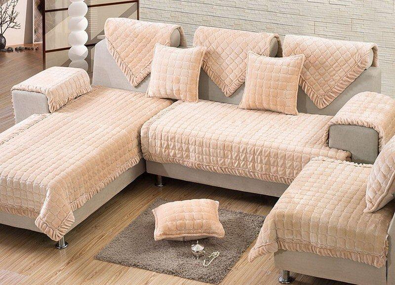 Canapé d'angle avec revêtement