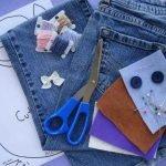 Ciseaux, fils, aiguilles et jeans