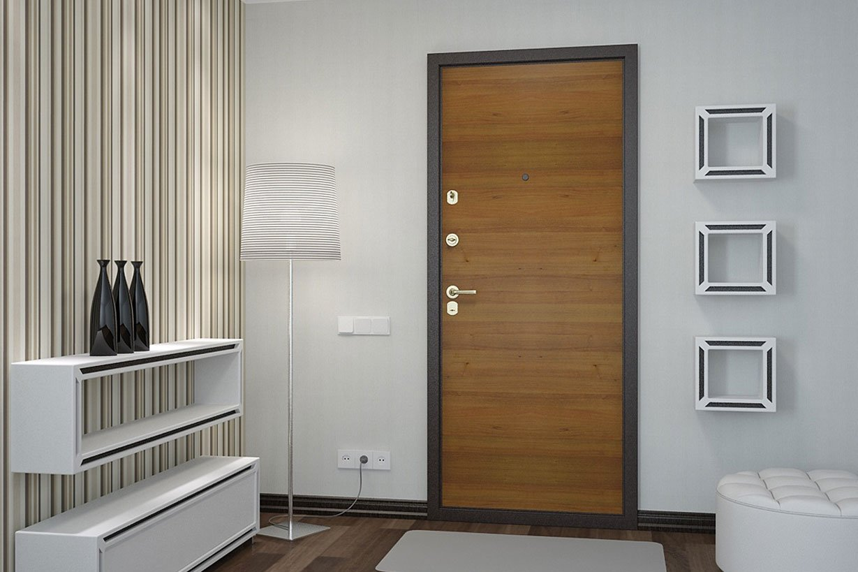 Porte avec porte en métal