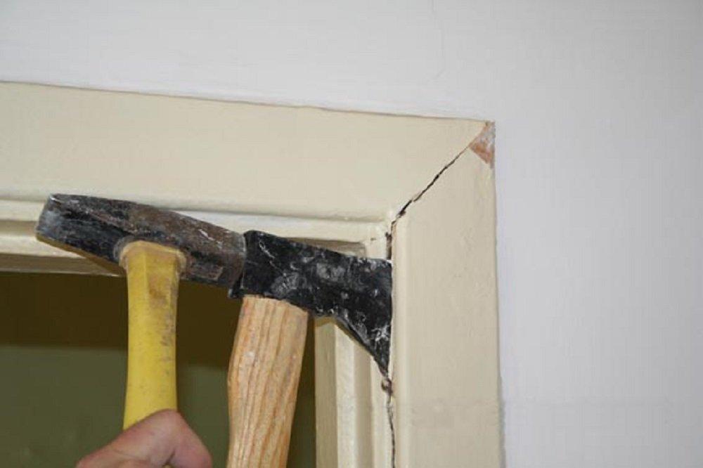 Préparation de la porte