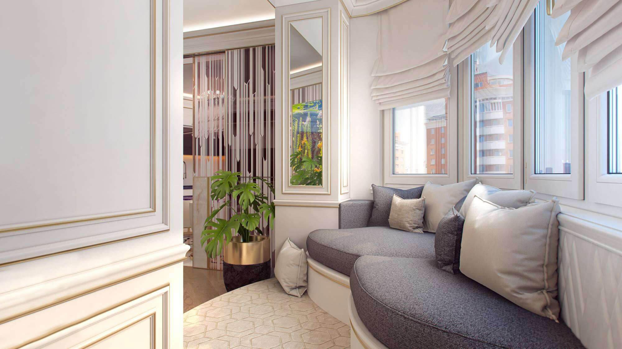 Sonering av et rom med balkong