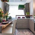 Marmorfliser på kjøkkenet