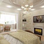 Dekorativ peis på soverommet