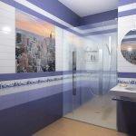 Décoration murale dans la salle de bain