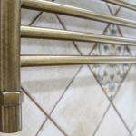 Porte-serviettes chauffant en bronze