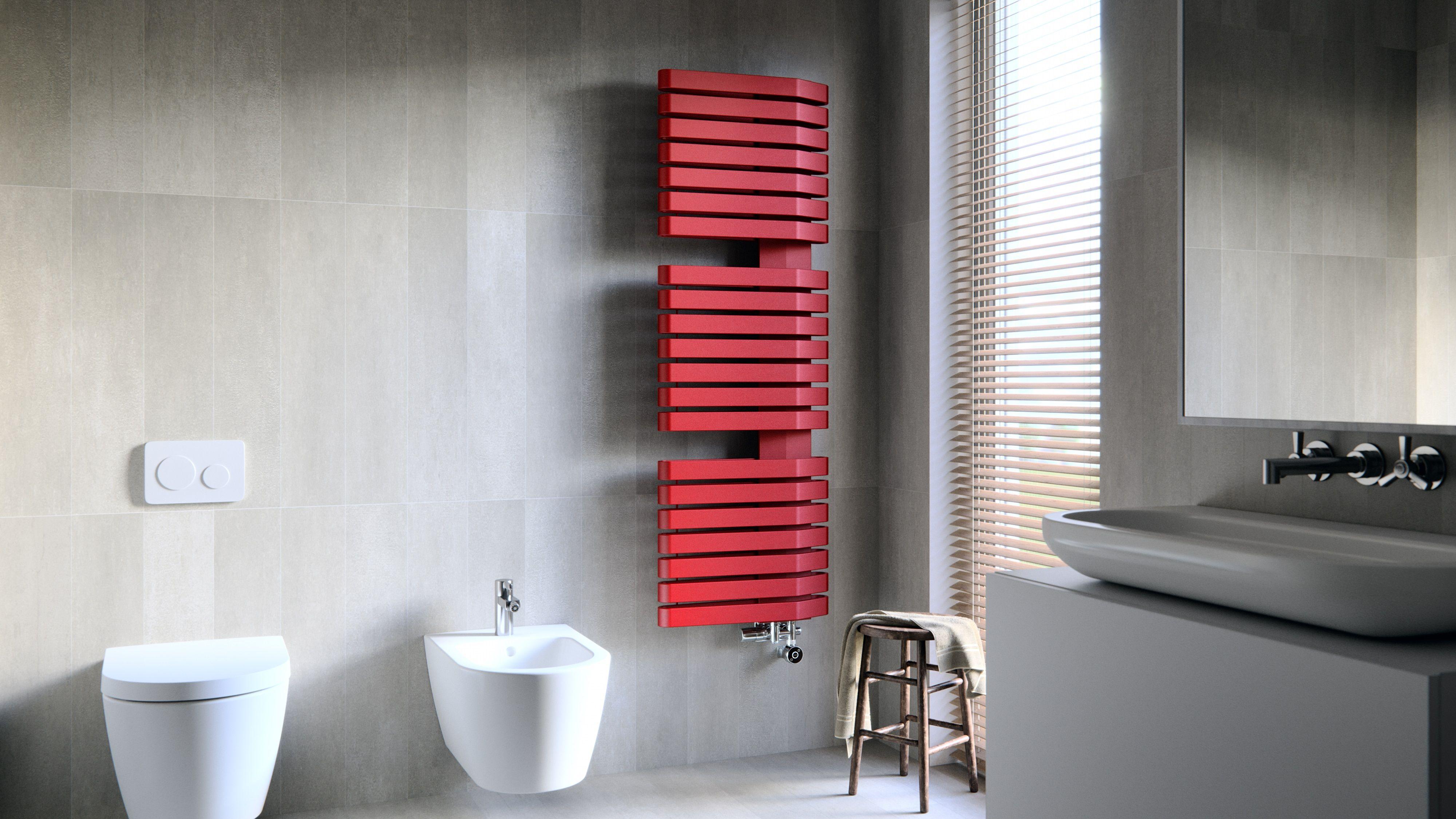 Porte-serviettes chauffant rouge
