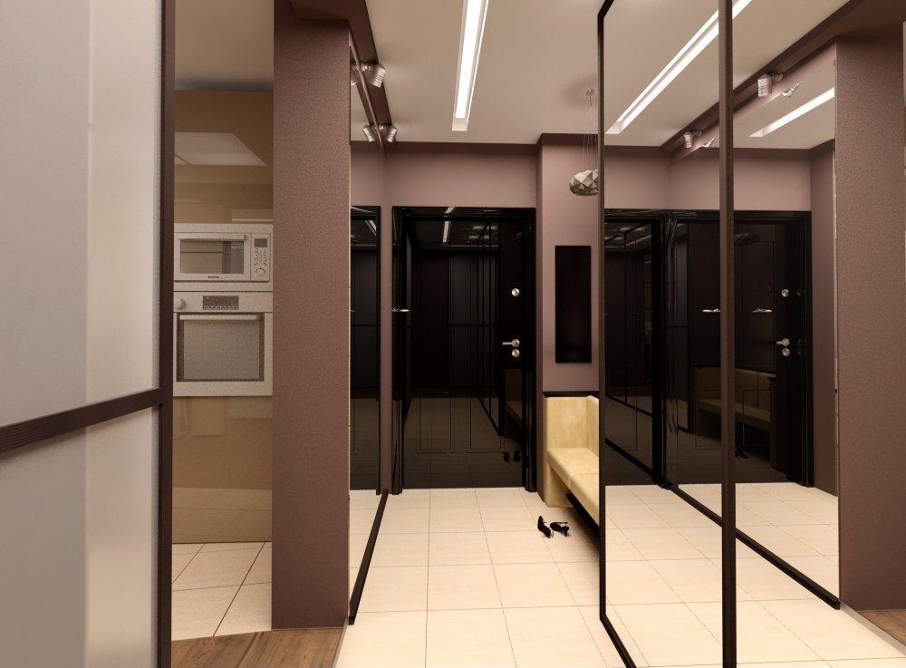 Couloir étroit avec entrée Art Nouveau