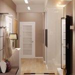 Papier peint couleur cappuccino dans le couloir