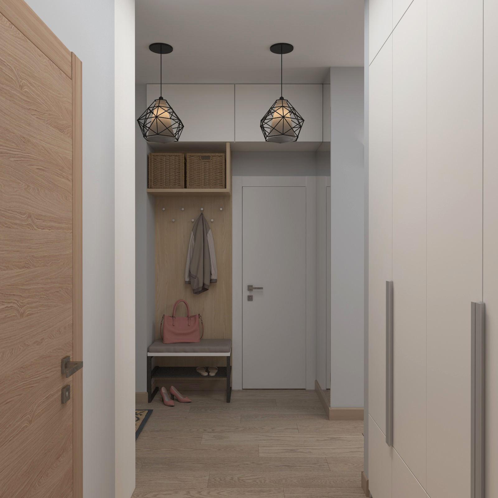 Mezzanines sous le plafond dans un couloir étroit