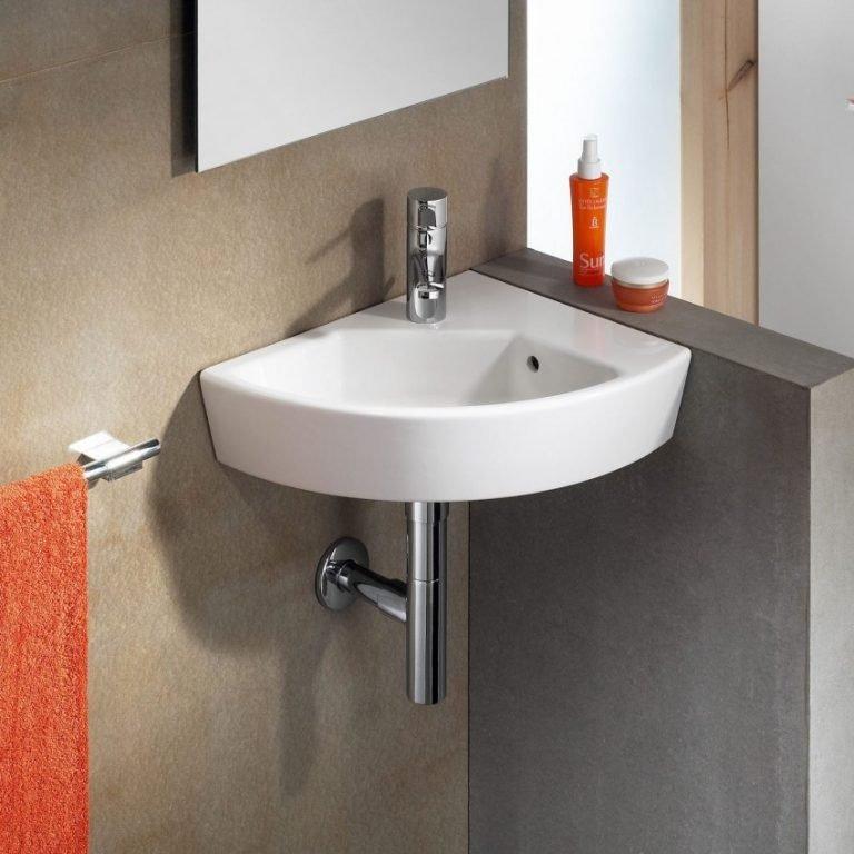 Lavabo d'angle de salle de bain