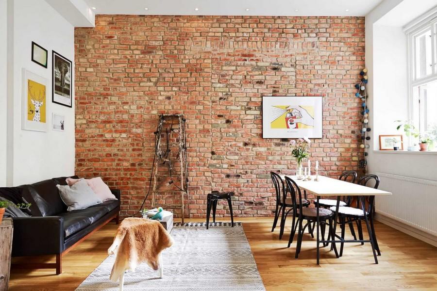 Bakstenen Muur In Het Interieur 100 Foto S Van Echte Voorbeelden Van Design
