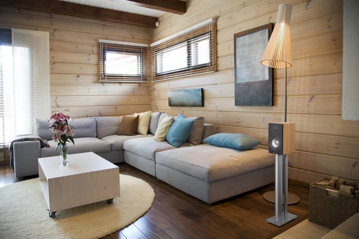 Tømmerimitasjon hjem dekorasjon