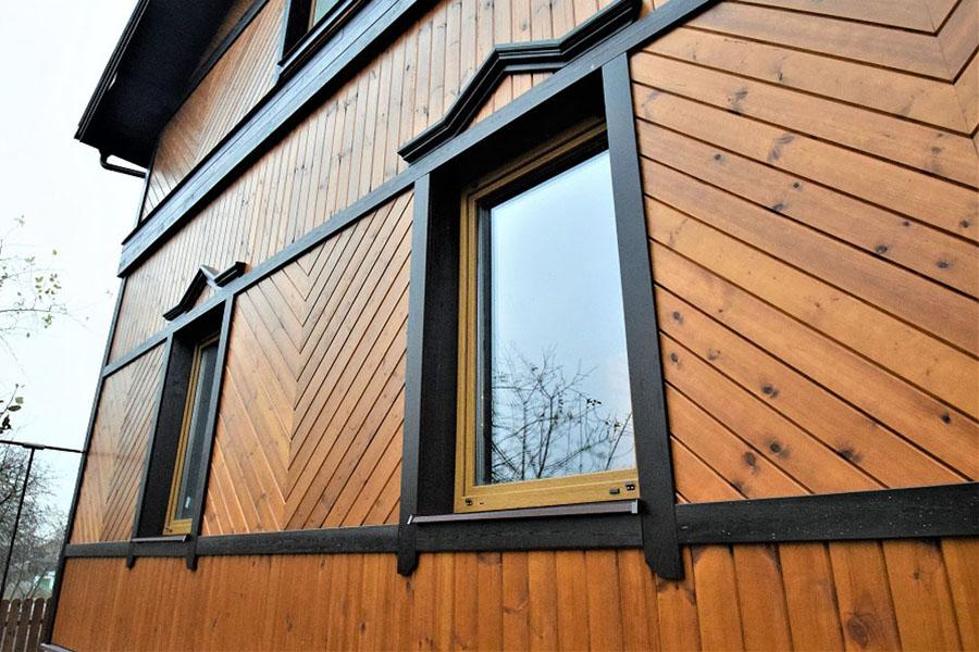 Utvendig hjemmeimitasjon av tømmer